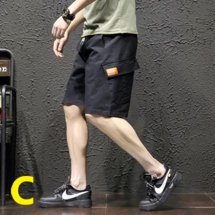 Men Clothing Multi-pocket Large Size Loose Pants