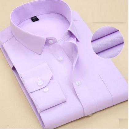 Men Plus Size Korean Fashion  Colored Cotton Long Sleeve Shirt
