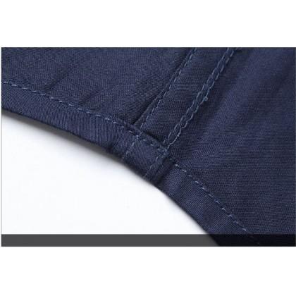 Men Plus Size Fashion City  Slim Fit Long Sleeved Casual Shirt